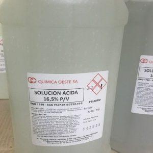 SOLUCION ACIDA 16,5% P/V bidox10LTS